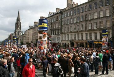 festival crowds on The Royal Mile