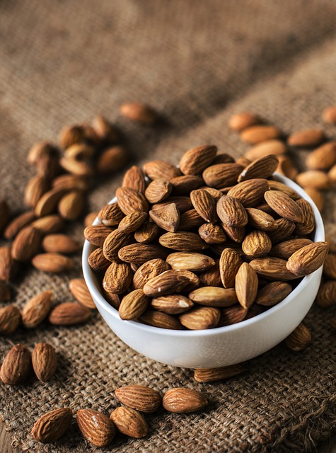 almonds are a good potable snack when you are enjoying the festival