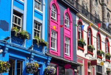 colourful buildings catch the eye